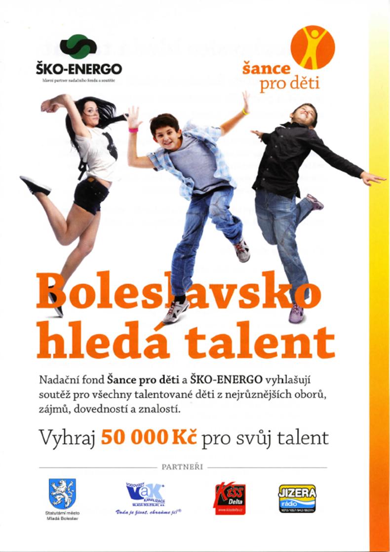 Boleslavsko hledá talent