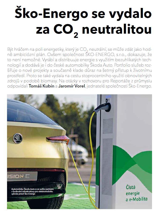 ŠKO-ENERGO se vydalo za CO2 neutralitou